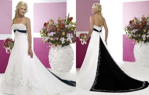 Wild Rose Black White Strapless Diamante Detail Wedding Dress Set Sizes Free Shipping