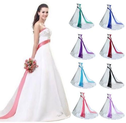 77e66541324  WILD ROSE   CUSTOM  Ivory or White Royal Blue Trim Strapless Wedding Dress  With Train - FREE SHIP!