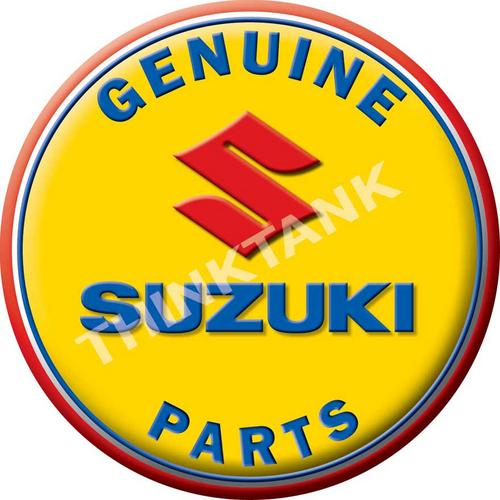 Suzuki Genuine Parts - Classic Round Metal Sign