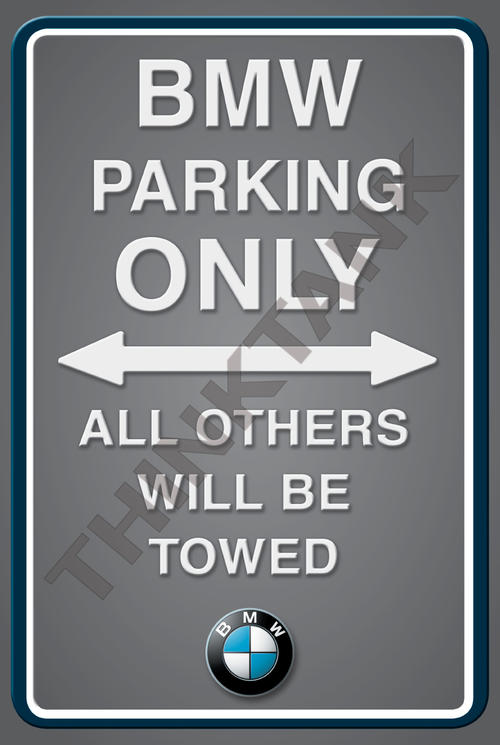 Signage BMW Parking Only Portrait Metal Sign For Sale In - Bmw parking only signs