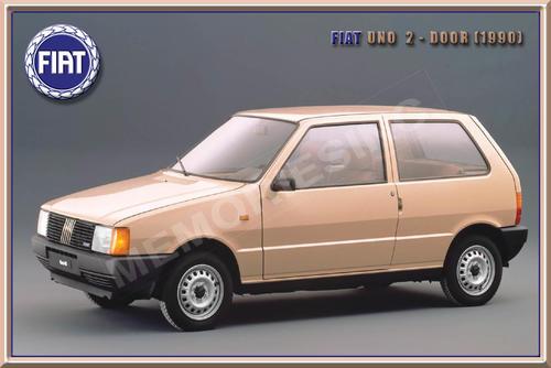 Signage Fiat Uno 2 Door 1990 Classic Metal Sign For Sale In