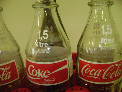 Other Antiques Amp Collectables 3 X 1 5l Glass Coke