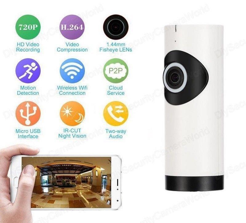 Surveillance Cameras - 360° Fisheye View Wireless HD WiFi Video