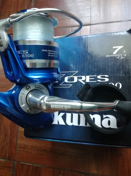 Reels - Okuma Azores 6500 Blue Surf Reel was listed for R1,300 00 on