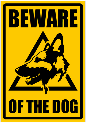 Personal Security Signs Rigid Plastic Beware Of The Dog Black