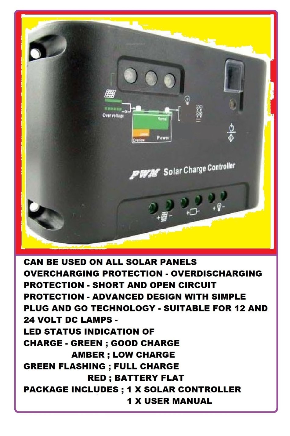 Solar Panels 10 Amp Charger Regulator Controller Outo 12 12v 24v Panel Circuit View Similar