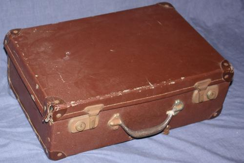 Road Old Brown School Suitcase Was Sold For R40 00 On 9