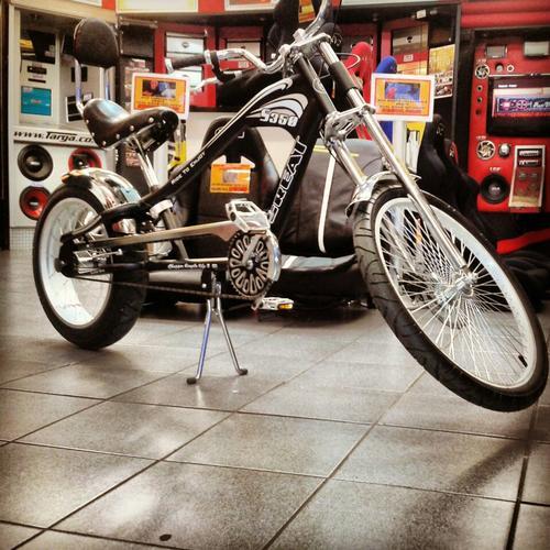 HARLEY CHOPPER STYLE BICYCLE, FIXED GEAR BIKE Was