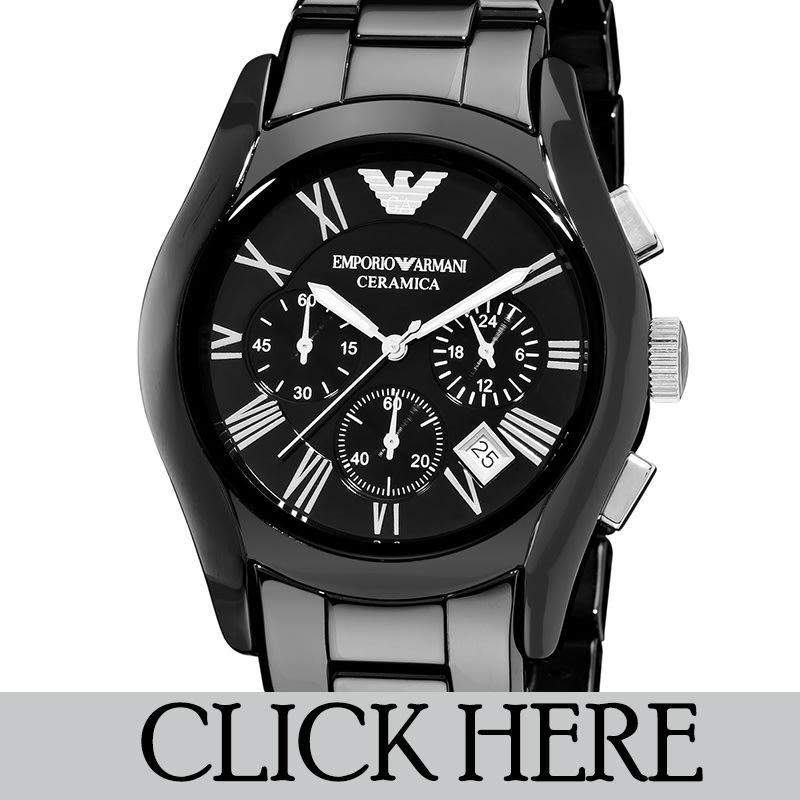 Men 39 s watches emporio armani ar1451 men 39 s ceramica chronograph watch brand new box for Ceramica chronograph