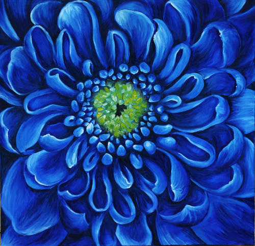 Oils - BLUE CHRYSANTHEMUM! Starting at R1!!! Relisted due ...