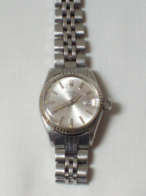 Women S Watches Vintage Ladies Rolex Oyster Perpetual Date Wristwatch C1970 S Was Sold For R4