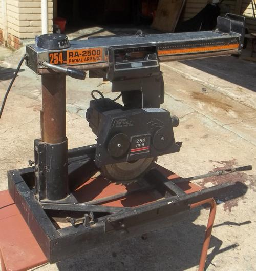 Ryobi Ra 2500 Radial Arm Saw Good Running Condition As Far I Know All Functions In Working Order No Stand It Was Mounted On A Work Table