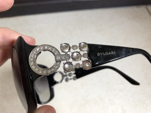 472191daf64 Sunglasses - SPECIAL EDITION Black BVLGARI Sunglasses with Swarovski ...