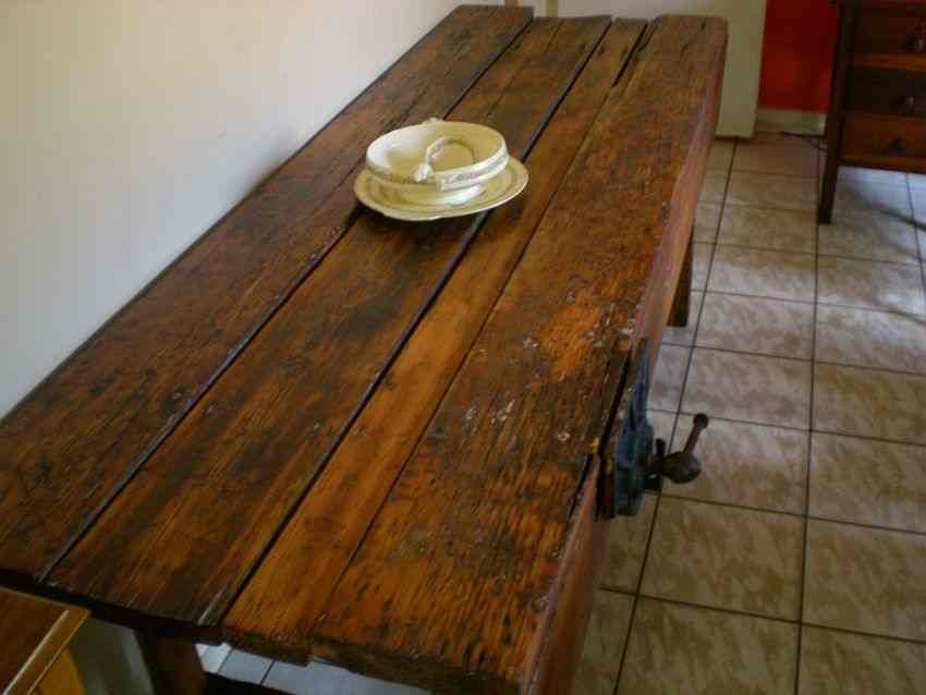 Tables stunning old workbench server table with original