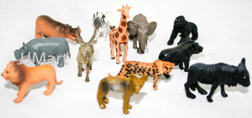 Other Collectable Toys 12 X African Wildlife Animal Toys