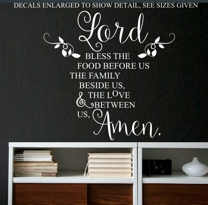 Wall Decals Free Low Shipping Bless The Food Before Us