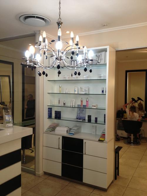 It Is A 4 Roomed Beauty Salon   With All Cupboards, Basins, Caesar Stone  Tops, Staff Lockers, A Shower, TALL Glass Room Dividers