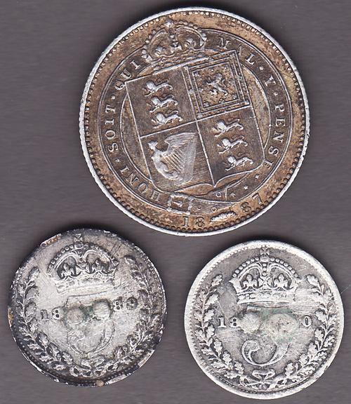 Great Britain - Great Britain 1889 & 1890 Victoria 3 Pence