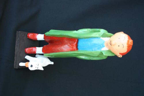 Other Antiques Collectables Tintin Snowy Large Handcarved