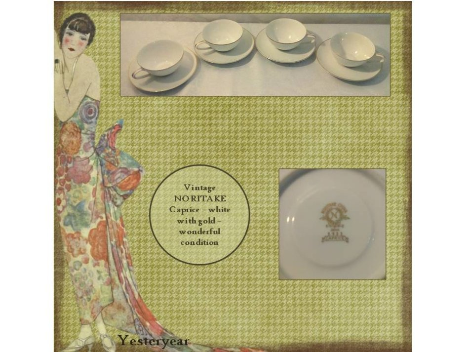 Oriental porcelain vintage noritake caprice 5933 four cups and view similar fandeluxe Image collections