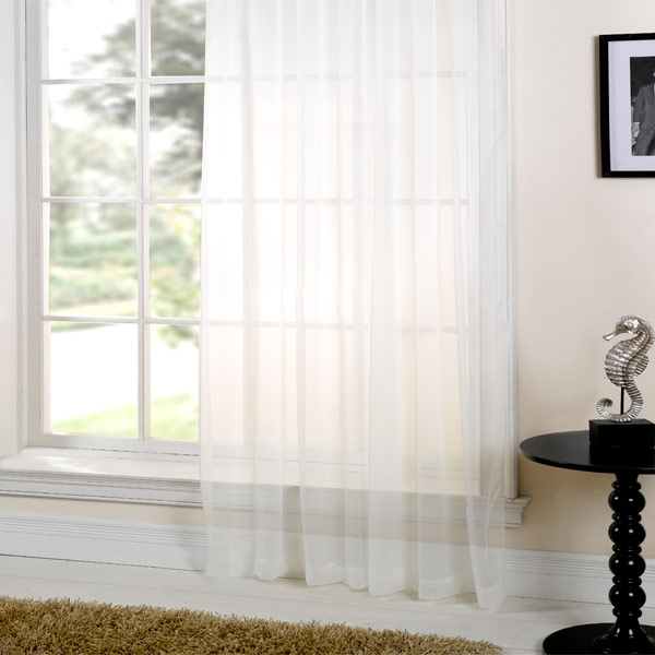 Curtains Plain Sheer Voile Curtain 5m X 230cm Ready To Hang