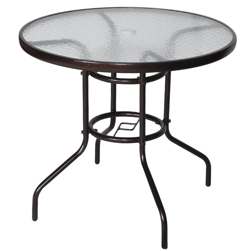 Furniture Sets Outdoor Dining Table Patio Tempered Glass