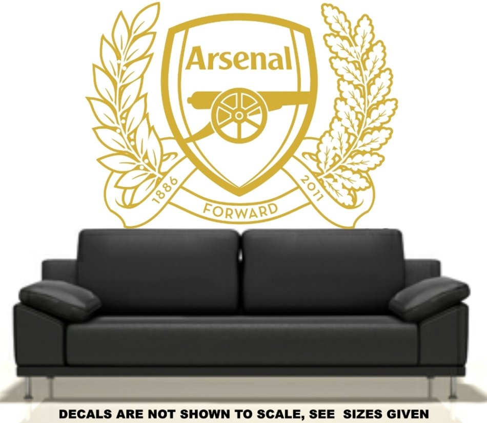 Wall decals free ship low courier arsenal football for Arsenal mural wallpaper