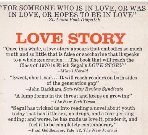 Romance Fiction Love Story Erich Segal Was Sold For R1550 On