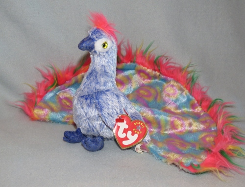 f4b85451dc2 Character Toys - Ty Beanie Baby Flashy the Peacock was listed for ...