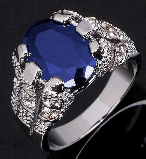 Blue Sapphire Ring For Men Price Rings - * Men's Blue S...