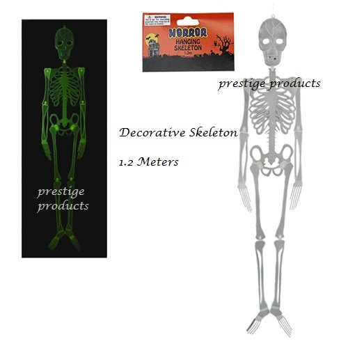 Decorative Art - 1 x Glow in the Dark Decorative Skeleton 1.2 Meters ...