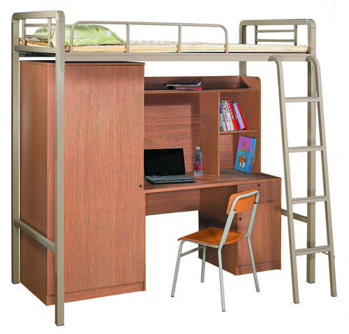 beds metal bunk bed with office desk and wardrobe at the bottom the perfect space saving. Black Bedroom Furniture Sets. Home Design Ideas