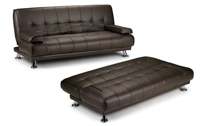 Lounge Suites Hazlo Faux Leather Convertible Sofa Bed