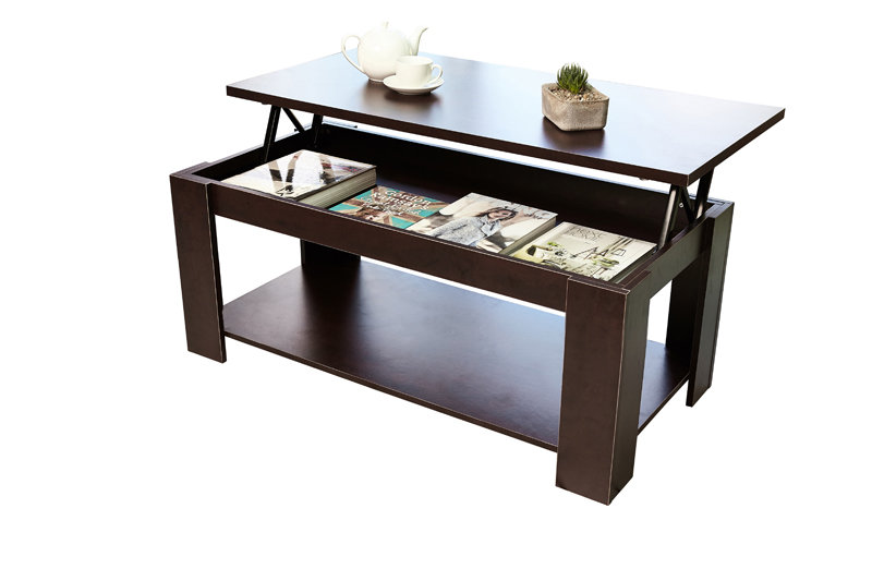 Tables Hazlo Lift Top Coffee Table Modern Design Espresso Brown Was Sold For On 9