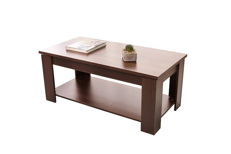 Tables Hazlo Lift Top Coffee Table Modern Design White Walnut And Espresso Brown Available