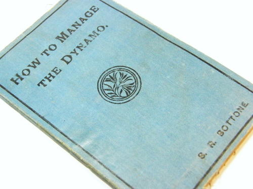 How to manage the dynamo - 1901 printing by BR Bottone - as per photo