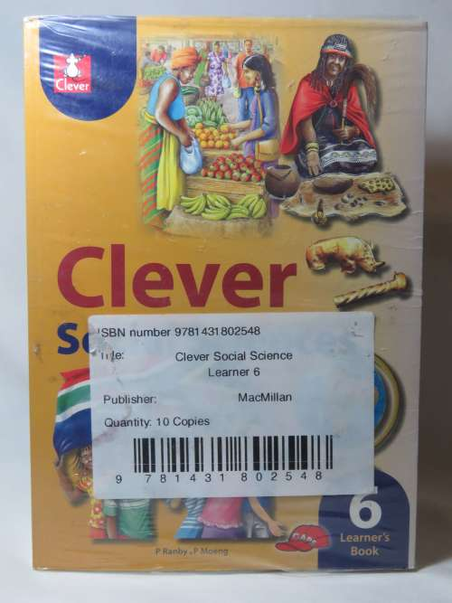 Clever Social Sciences - Grade 6 learner's book - 10 Copies sealed