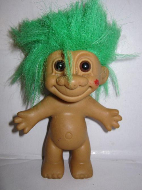 Other Collectable Toys Russ Troll Naked Green Hair Kiss On Cheek