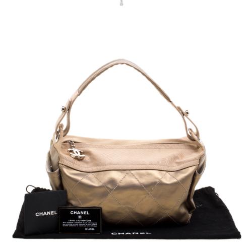 8b31b354e242 Luxury Handbags * Chanel Gold Quilted Canvas Paris Biarritz Hobo handbag *  Retail R26 800