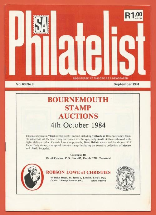 SA Philatelist  September 1984