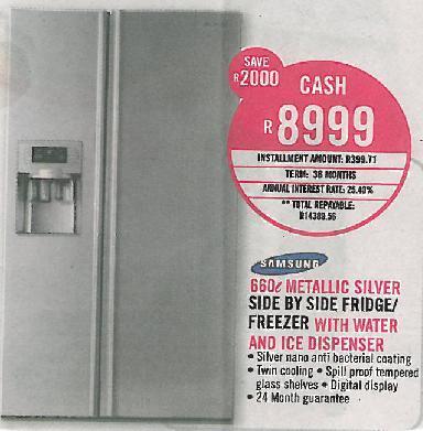 Fridges Amp Freezers Samsung Side By Side Double Door