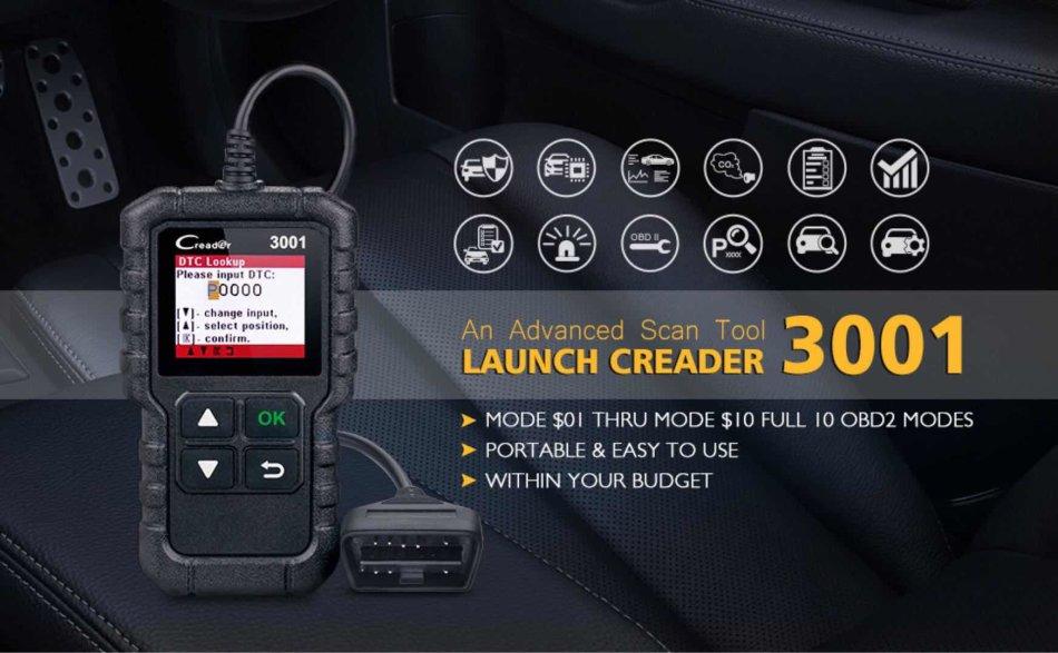 Repair Kits - Creader 3001 OBD2 Scanner Automotive Car