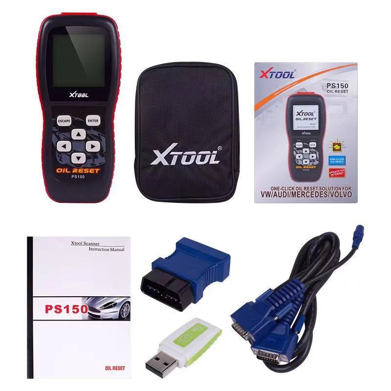 XTOOL PS150 OBD2 Car Diagnostics Tool with Oil Services Reset for OBDII  Vehicles - Black