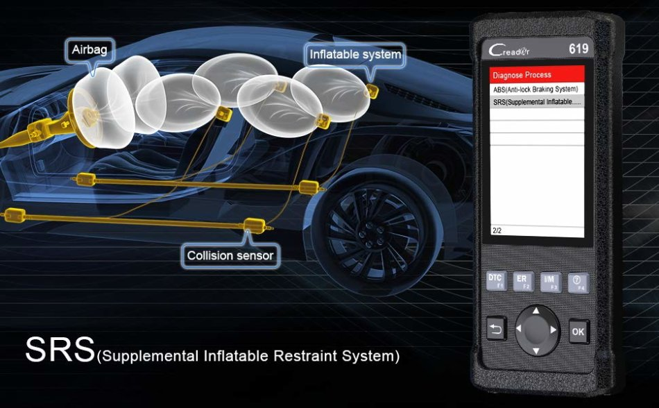 Repair Kits - Launch Creader CR619 Automotive ABS SRS Obd2