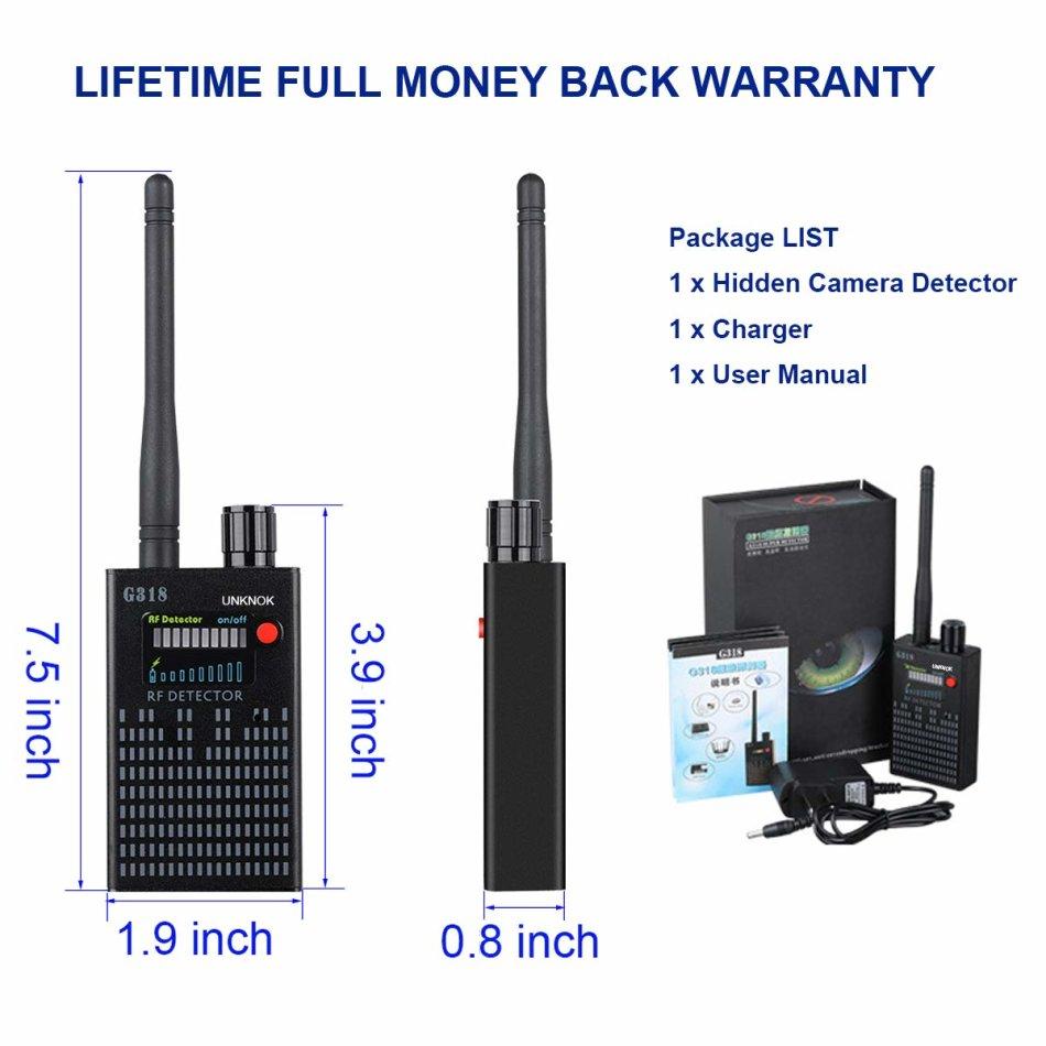 Hidden Camera Detector, UNKNOK Bug Detector [Anti-Spy][Ultra-high] RF  Signal, Radio Frequency, GPS D