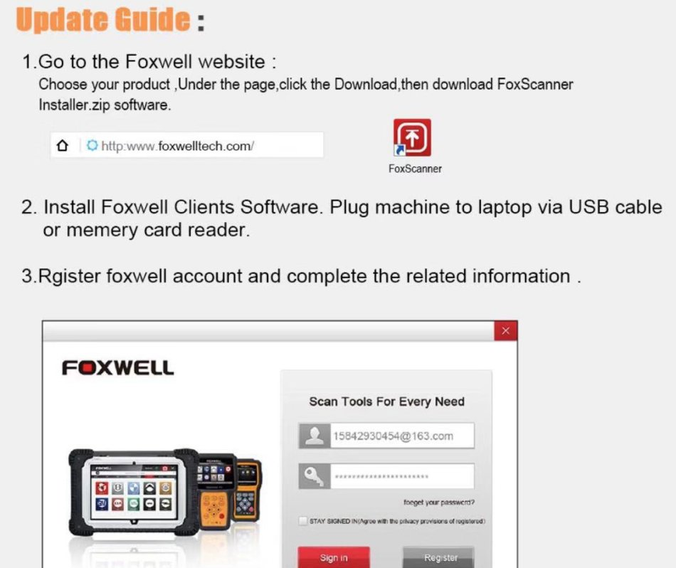 Scanners - FOXWELL NT510 Auto OBD2 Scanners Code Reader for