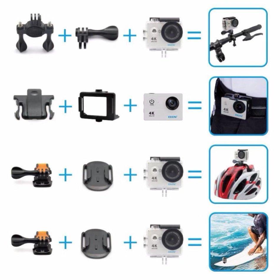 Helmet & Action - (New Version) EKEN H9R Action Camera 4K WiFi Full