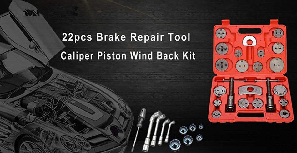 Repair Kits - 22pcs Heavy Duty Disc Brake Caliper Tool Set