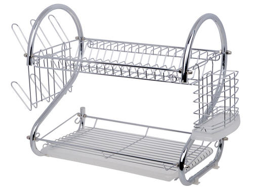 2-Tier Chrome plated dish rack. Small Counter top Footprint Plastic water catcher. Room for cups u0026 glasses. Easy to assemble. Sturdy and multi-functional  sc 1 st  Bidorbuy & Dish Racks - Two Tier Dish Rack Holder (Chrome plated) was sold for ...