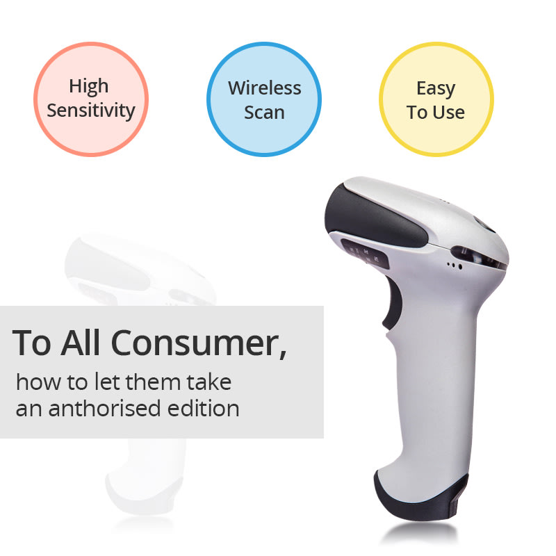 Point of Sale Equipment - Wireless Handheld Laser Barcode